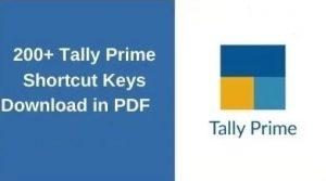 Tally prime shortcut keys pdf download
